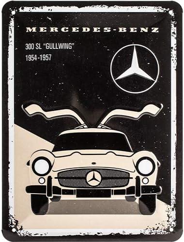 N A Mercedes-Benz 300 SL gepr/ägt Blechschild 20 x 30 cm Deko Auto Metallschild