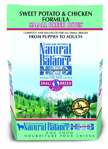 Natural Balance Limited Ingredient Diets Small Breed Bites Dry Dog Food, Grain Free, Sweet Potato And Chicken Formula, 4.5-Pound