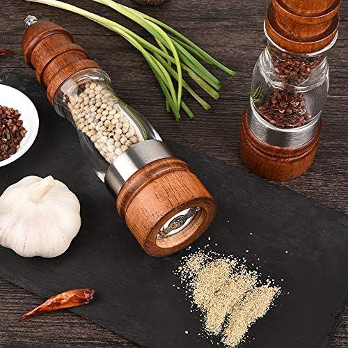 Wooden Pfeffermühle Manuelle Pfeffermühle, Einstellbare Dicke Keramik-Schleif Core Home Küche Spice Flaschen, Für Barbecue/Küchendeko/Gastronomie