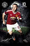 WAYNE ROONEY MANCHESTER UNITED OFFICIALLY LICENSED WALL POSTER (24' X 36' INCHES)