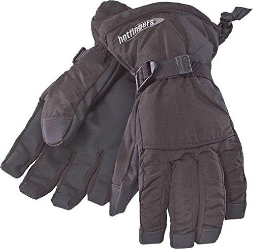 Black,X-Large Hot Fingers Mens Rip-N-Go Glove