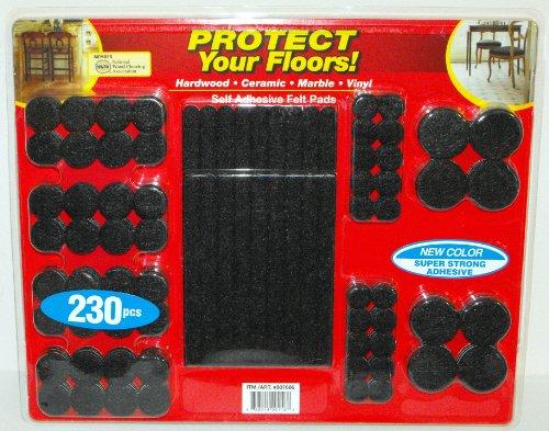 Standard Floor Monitor (Floor-Care 230-Piece Self Adhesive Felt Pads Kit)