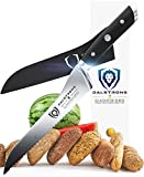 DALSTRONG Serrated Offset Bread & Deli Knife - Gladiator Series- 8''- German HC Steel - Guard Included