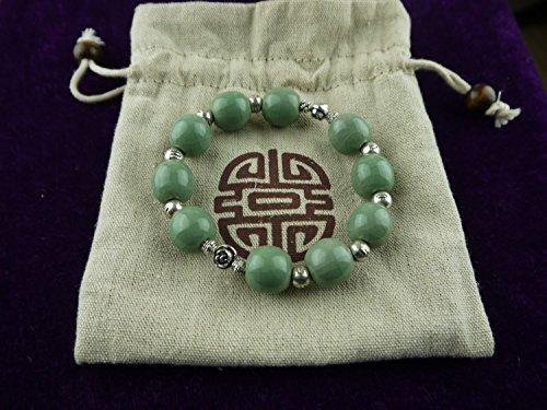 Longquan celadon Ge Kiln/Celadon bracelet/Chain/Swarovski/World intangible cultural heritage no.1122