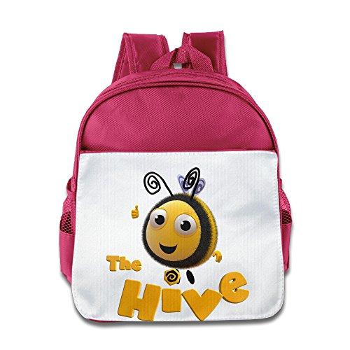[XJBD Custom Cute The Hive Kids Children School Bag Backpack For 1-6 Years Old Pink] (Cute Slimer Costumes)