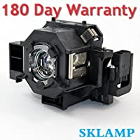 Sklamp ELP-LP42 / V13H010L42 Replacement Lmap Bulb with Housing for Epson PowerLite 83/83+/822/822+/400W/410W/EX90 Projectors