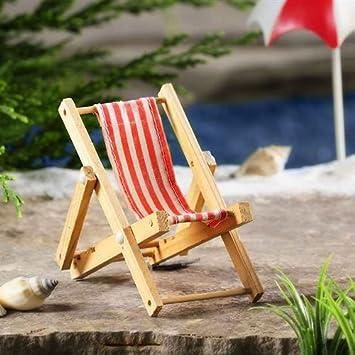 Miniature Fairy Garden Beach Sling Chair