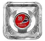Gas Burner Liners (50 Pack) Disposable Aluminum