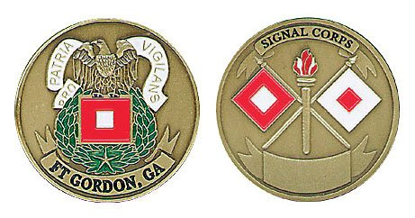 NEW Fort Gordon Signal Corps Challenge Coin