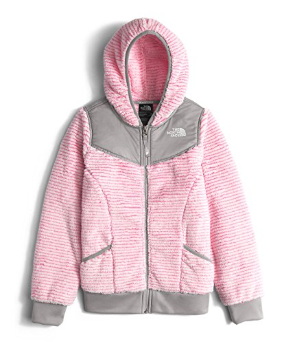 The North Face Oso Hoodie Girls' Cha Cha Pink Stripe Small by The North Face