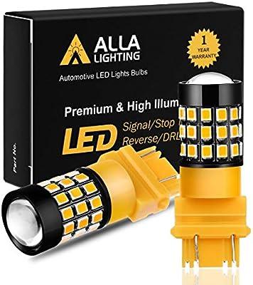 Pair 3157 High Power Amber Yellow LED Turn Signal Blinker Corner Light Bulbs Kit