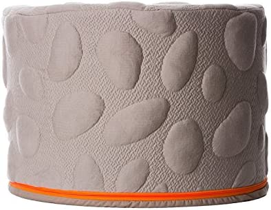 Nook Sleep Systems Soft Organic Pebble Pouf with Liquid-Resistant Wrap Cover Misty