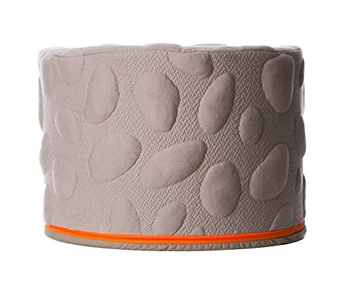 Nook Sleep Systems Pebble Pouf, Soft, Organic, Lightweight Foam Ottoman with Liquid-Resistant Wrap Cover, Misty