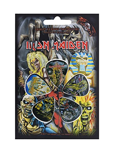 (Iron Maiden Early Albums Guitar Plectrums - Pack Of 5 )