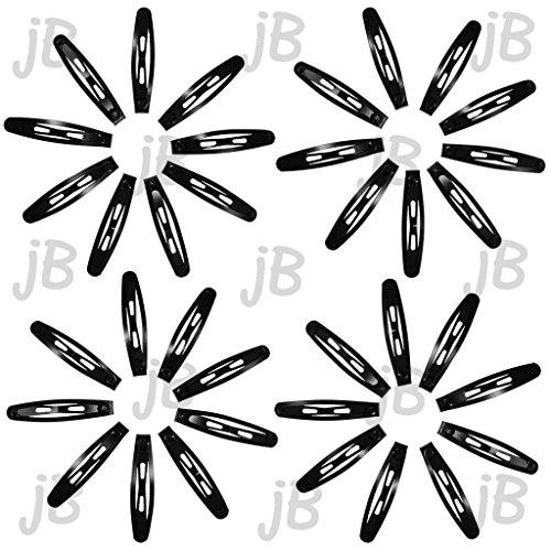 jB - Black Metal Hair Snap Clips (36 pack)