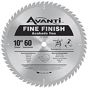 Avanti 10 In X 60 Tooth Fine Finish Circular Saw Blade