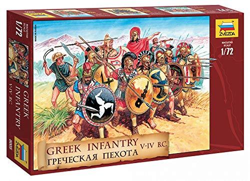 ZVEZDA 8005 - Greek Infantry V-IV century. BC - Unpainted Plastic Soldiers - Scale 1:72 45 Figures 1