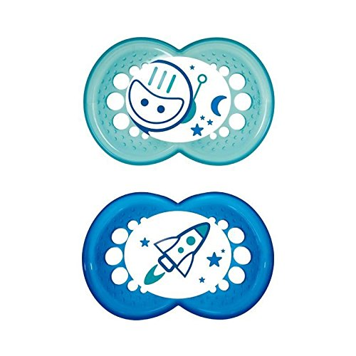 MAM Night Soother 12+ Months, Blue - Pack of 6 by MAM
