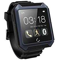LUCOG Durable Smart Watch - IP68 Waterproof Shockproof Dust-proof Military Level Smart Wristwatch Support SIM Card with Over 7 Days Battery Standby Perfect for Outdoor Activity (Blue)
