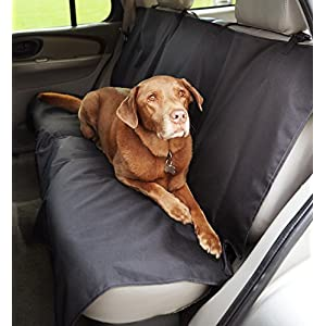 AmazonBasics Waterproof Car Bench Seat Cover for Pets 2