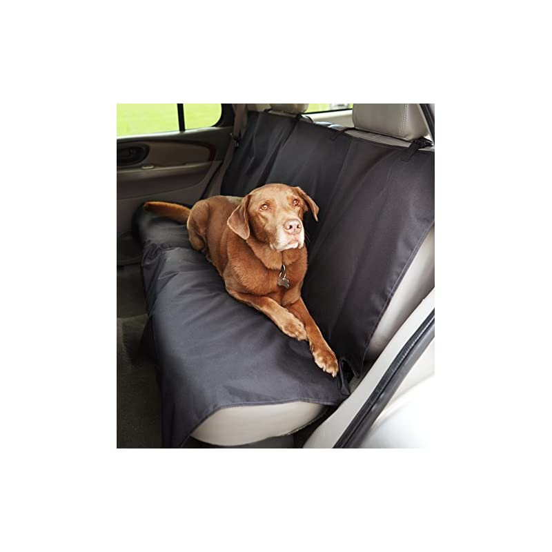 dog supplies online amazonbasics waterproof car back bench seat cover protector for pets - 56 x 47, black