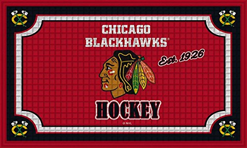 fan products of Team Sports America Chicago Blackhawks Embossed Floor Mat, 18 x 30 inches