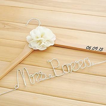 Personalisierte Hochzeit Kleiderbugel Single Line Braut Name