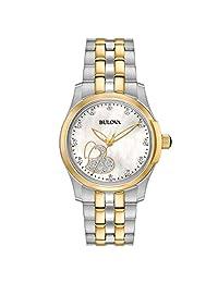 Bulova 98P152 Women's Mother of Pearl Dial Two Tone Women's Watch