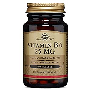 Solgar - Vitamin B6 25 mg Tablets  100 Count
