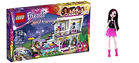 LEGO Friends Livi's Pop Star House 597 Pcs & free Gifts Ghoul Spirit Draculaura Doll (Colors may vary) Toys