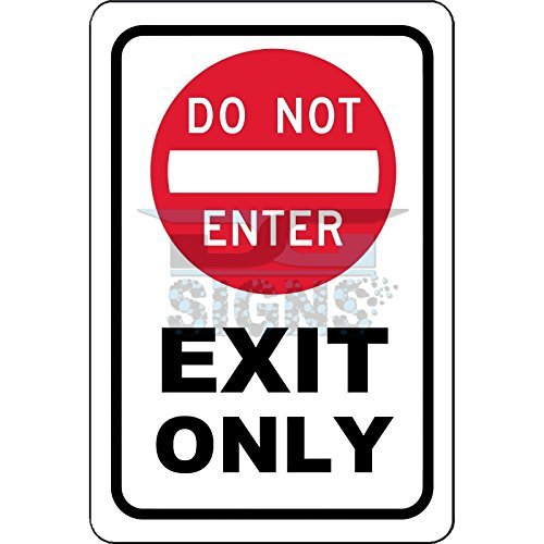 Do Not Enter Exit Only Aluminum Sign Metal Signs Vintage Road Signs Tin Plates Signs Decorative Plaque bienternary