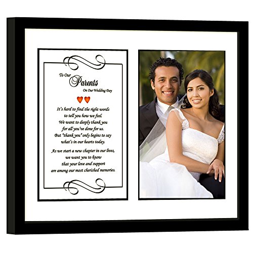 Poetry Gifts Parent Wedding Gift, On Our Wedding Day from Bride and Groom