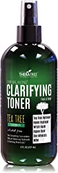 Clarifying Toner with MSM, Tea Tree & Neem Hydrosol, Complexion Control for Face & Body – Helps Reduce Appearance of Pore Size, Controls Oil to Tone, Balance & Hydrate Skin - 8 oz