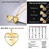U7 Capricorn Zodiac Sign Necklace 18K Gold Plated