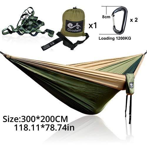 - MLOP Rede Camping Hammock Camping Survivors Hammock swings-23 Green Khaki S