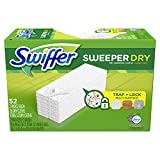 vac swiffer - Swiffer Sweeper Dry Sweeping Pad, Multi Surface Refills for Dusters Floor Mop, Lavender & Vanilla, 52 Count