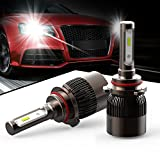 HODA lighting Extremely Bright Automobile LED Headlight Bulbs H4 - 7200Lm Low Beam & 7200Lm High Beam 6K Cool White (Pack of 2) - 2 Yr Warranty