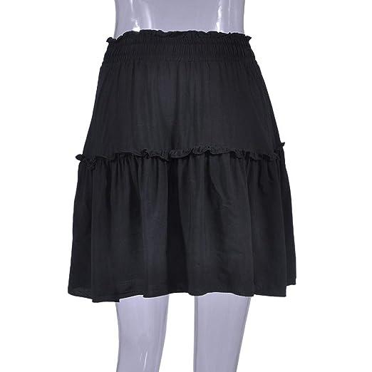 Amazon.com: NREALY Falda Womens Elastic High Waisted Loose Skirt Bandage Stretch Bodycon Below Knee Skirt: Clothing
