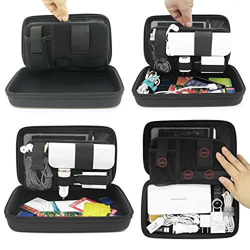 Sisma Travel Organizer Carrying Bag 2 in 1 for Electronics and Accessories Black Bundled SCB16128S-B Photo #7