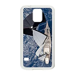 Beautiful Sailboat Rudders Customized Cover Case with Hard Shell Protection for SamSung Galaxy S5 I9600 Case lxa#401729