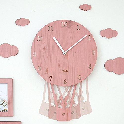 Ping0fm Rocking Creative Cartoon Wall Clock Drawing Simple