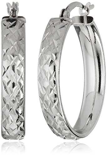 Sterling Silver Diamond Oval Earrings product image
