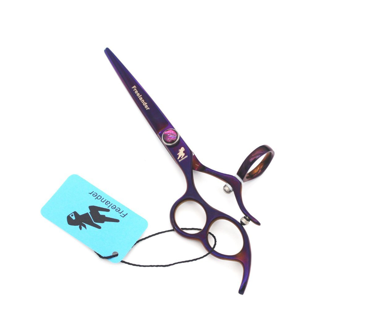 Professional Left Handed hair Cutting Scissors 360 Degree Rotation Fly Barber hair cutting scissors,5.5 inch length Japanese 440C Stainless