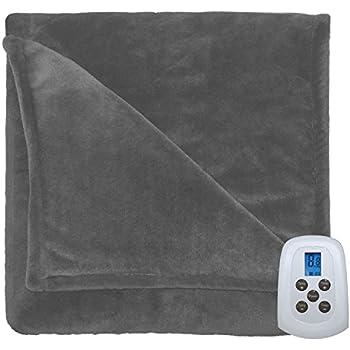 Amazon Com Serta 857457 Silky Plush Blanket With
