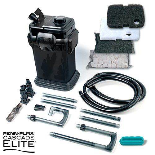 Cascade Black 500 Elite Penn Plax CCF1BMK Cascade Canister Aquarium Filter, Black
