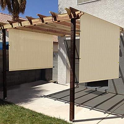 Windscreen4less - Toldo Universal de Repuesto para pérgola Beige y marrón: Amazon.es: Jardín