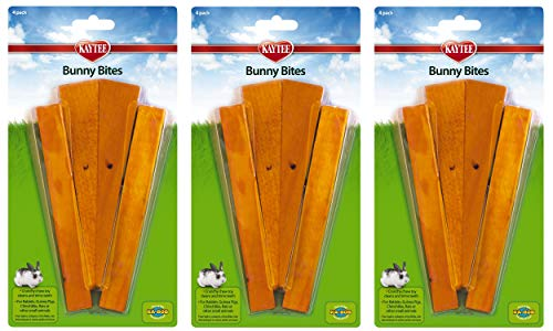 Kaytee Bunny Bites, 12 Pieces, Wood Chews for Small Pets