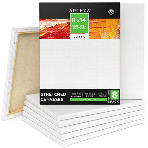 Arteza Stretched Canvas 11x14