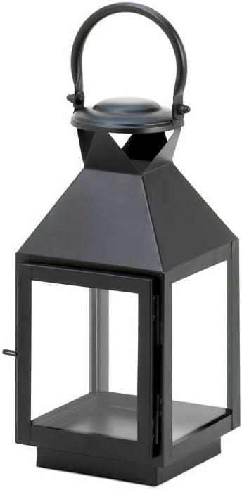 Gallery of Light Black Revere Medium Candle Lantern