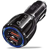 SNOWINSPRING デュアルUSB車の充電器 高速急速充電3.0 - デュアルポート充電アダプター iOSおよびAndroidデバイス用